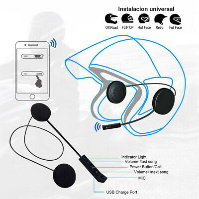 BT Motorbike Helmet Headset Bluetooth Interphone Intercom Motorcycle Earphone CO • 16.29£