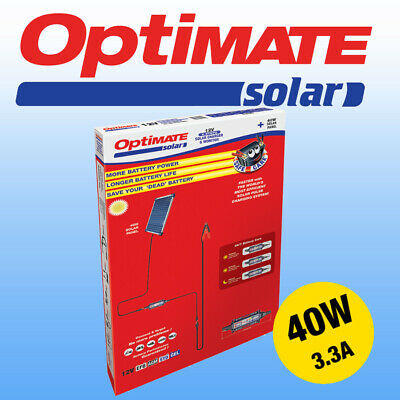 Optimate 40w Solar Panel Motorcycle Battery Charger Maintainer Fully Automatic • 179£