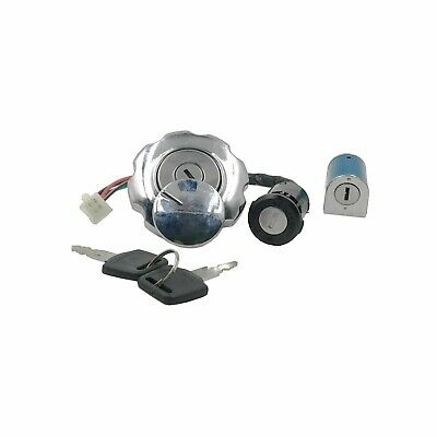 Motorcycle Ignition Switch + Fuel Tank Cap Lock Set W 2Keys For CG-125 • 12.66£