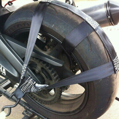 Motorcycle Transport Tie-Down Wheel Strap Light Strong Polyester Webbing Strap • 11.99£