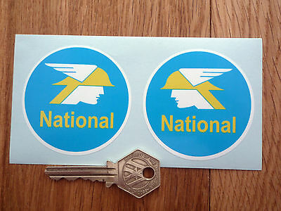 NATIONAL BENZOLE Classic 60's Car Motorcycle Stickers • 2.50£