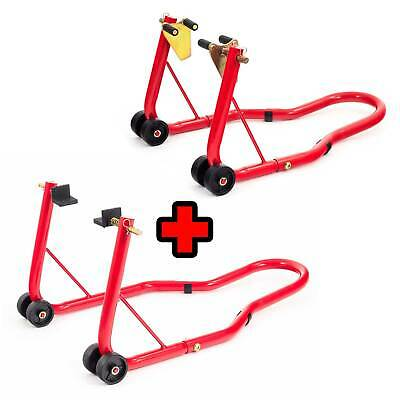 Warrior Front And Rear Motorcycle / Bike Paddock Stand / Stands Combo / Pair • 42£
