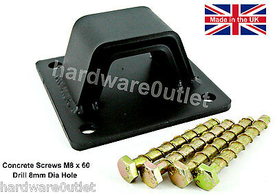 BLACK DOUBLE SHIELD Steel Security Chain Wall Ground ANCHOR CONCRETE SCREWS • 16.45£