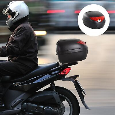 24L Motorcycle Trunk Hard Tail Bike Top Box Rack Mount Luggage Carrier Case Keys • 19.99£