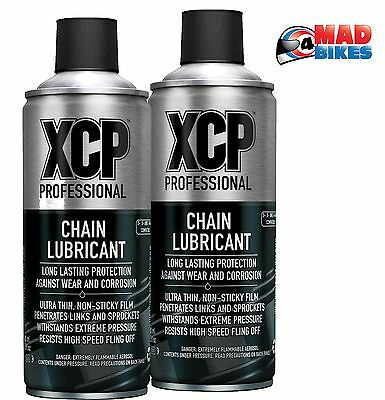 XCP Premium Processional Quality Motorcycle Motorbike Chain Lube 400ml Twin Pack • 18.50£