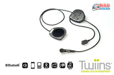 Motorcycle Intercom Bluetooth Hands Free Phone System Also Music GPS Twiins FF2 • 32.39£