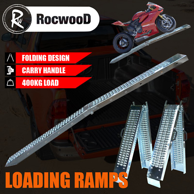 Ramps Steel Folding Pair 600KG 1.8 Metre Trailer Motorbike Ride On Mower • 65.99£