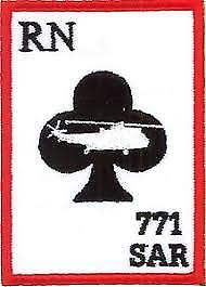 2 Ace Of Clubs  Stickers 4  771 Squadron  Royal Navy  Badges Military Insignia • 3.99£