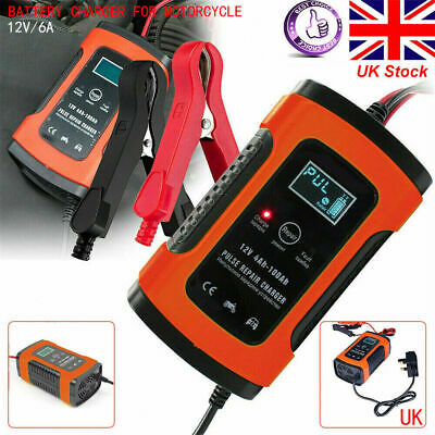 Intelligent 12V Motorcycle Motorbike Battery Charger Automatic Smart Trickle UK • 13.28£