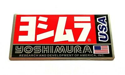 Yoshimura Usa 3d Heatproof Exhaust Badge Sticker Graphic Decal Silencer Metal • 4.95£