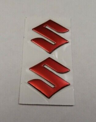 Suzuki 3d Red Chrome Badge Logo Stickers Graphics Decals Superbike Gsxr Gsr Sv • 9.95£