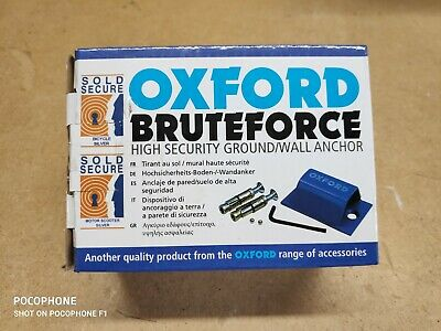 Ground Anchor Oxford Brute Force Motorcycle Secure Security OF439 • 6.02£