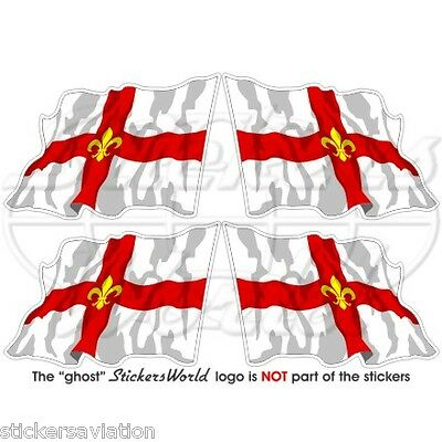 City Of LINCOLN Flying Flag Lincolnshire 50mm (2 ) Vinyl Stickers, Decals X4 • 3.25£