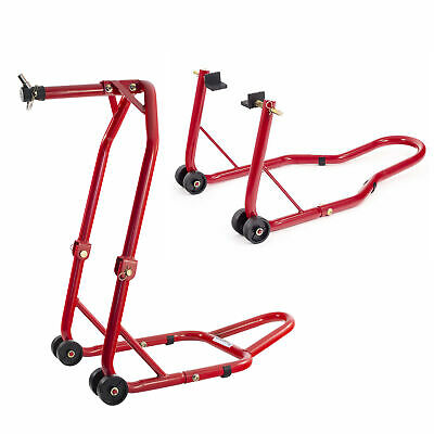 Warrior Front Head And Rear Motorcycle / Bike Paddock Stand / Stands Combo/Pair • 65£