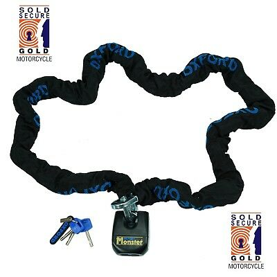 Chain And Padlock > Oxford Monster Lock Motorcycle 2m OF803 Thatcham Security • 84.99£