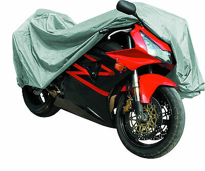 MOTORCYCLE MotorBike COVER Waterproof Rain Dust PROTECTOR By Qtech - Large • 8.95£