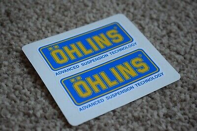 OHLINS Emblem Badge Logo Motorbike Motorcycle Bike Racing Decal Stickers 50mm • 1.98£
