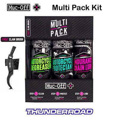 Muc Off Motorcycle Multi Value Pack Cleaning Kit Muc-off With Free Brush M670 • 25.99£