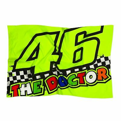 Valentino Rossi VR46 Classic The Doctor 46 Race Flag - Yellow • 19.99£