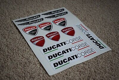 Ducati Corse Bike Motorbike Motorcycle Car Decal Stickers Logos Badges • 4.35£