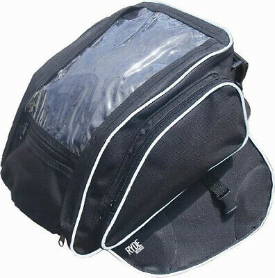 Ryde Motorcycle Magnetic Black Tank Bag Motorbike/Bike Luggage Pannier Phone Map • 12.99£