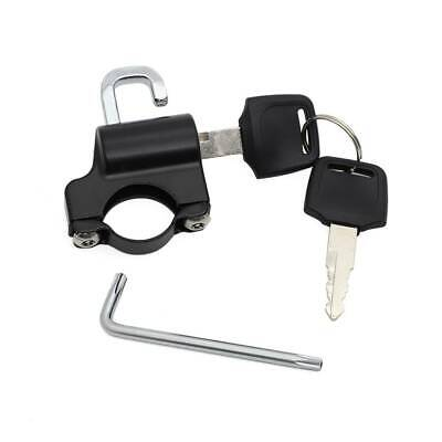 Helmet Lock Anti-theft Security Universal For 7/8inch 22mm Tube Motorcycle BK • 9.49£