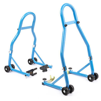 Paddock Stand Motorcycle Front And Rear Wheel Pair Track Pits Sportbike • 35.99£