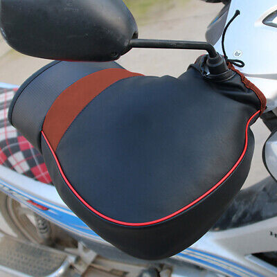 1 Pair Winter Motorcycle Motorbike Warm Handle Cover Handlebar Muffs Hand Gloves • 10.89£