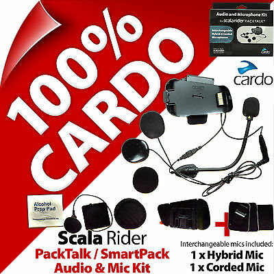 Cardo Scala Rider Audio & Mic Accessory Kit PackTalk / SmartPack Helmet Intercom • 59.95£