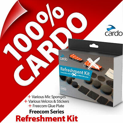 Cardo Refreshment Kit Pads Glue Plates Stickers Mic Sponges For FREECOM Series • 15.97£