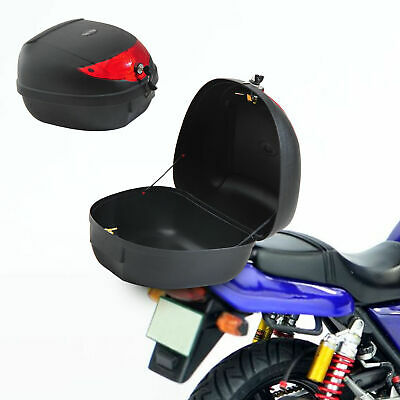 HOMCOM Motorcycle Trunk Tail Box Luggage Case Rack Backrest 24L • 20.99£