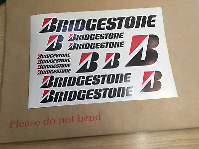 BRIDGESTONE  Sheet Of 14 Decal / Stickers Sponsor Set • 3.99£