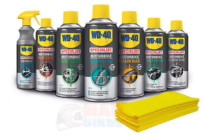WD-40 Motorcycle Motorbike Deluxe Cleaner Care Kit Chain Lube, Wax, Polish WD40 • 59.99£