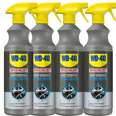WD-40 Specialist Motorcycle Motorbike All Over Total Wash 1L Bike Cleaner X 4 • 24.99£
