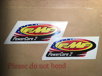 X2 FMF POWERCORE 2 Exhausts Motorcycle Decals  Graphics Stickers  • 3.99£