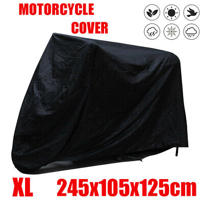 XL Motorcycle Motor Bike Bi Scooter Waterproof UV Dust Protector Rain Cover • 8.19£