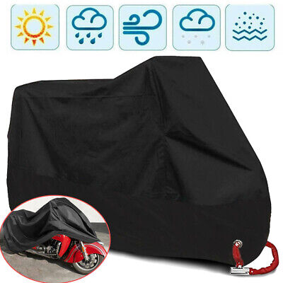 XL Large Heavy Duty Waterproof Motorcycle Motorbike Cover Outdoor Rain Protector • 14.99£