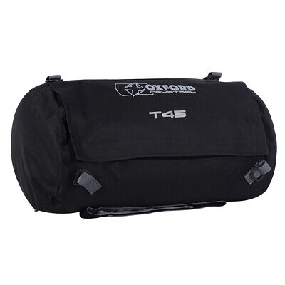 Oxford Drystash T45 Roll Bag Black Motorcycle Soft Luggage Tail Saddle Bag • 26.95£