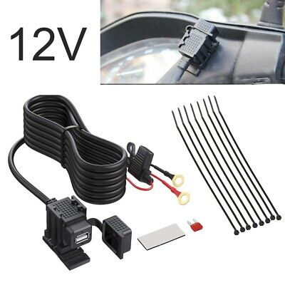 UK 12V Motorbike Motorcycle USB Charger Power Socket Adaptor Outlet Waterproof • 7.78£