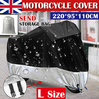 New 220*95*110CM Waterproof Motorcycle Cover Motorbike Scooter Universal Storage • 8.99£