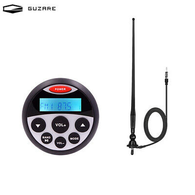 Bluetooth Stereo Receiver Motorcycle Audio Boat FM AM Radio + Waterproof Antenna • 59.99£