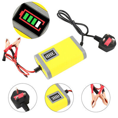 12V Intelligent Motorbike Motorcycle Battery Charger Smart Trickle Batteries ~UK • 11.55£