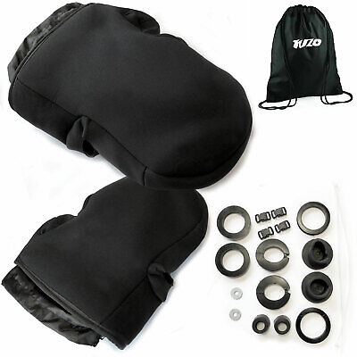 Motorcycle Handlebar Muffs Waterproof Soft Shell Hand Cover With Bar End Fitted • 24.99£