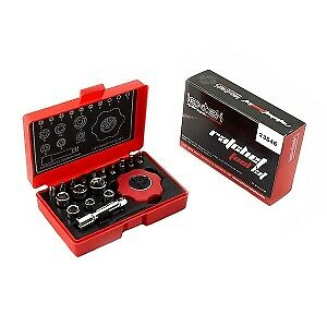 LEXTEK Ratchet Tool Kit Motorcycle Under Seat - Sockets / Flat Cross Allen Heads • 17.99£