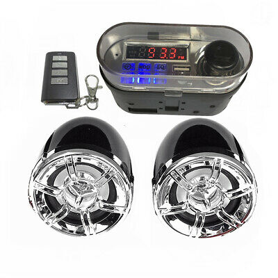 HY-007 Motorcycle Bluetooth Speaker Audio System TF FM Radio USB Charger • 24.31£