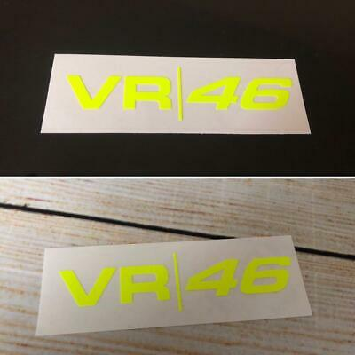 VALENTINO ROSSI VR46 Moto GP Fluorescent/Neon Yellow Vinyl Decal Stickers X 2 • 2.50£