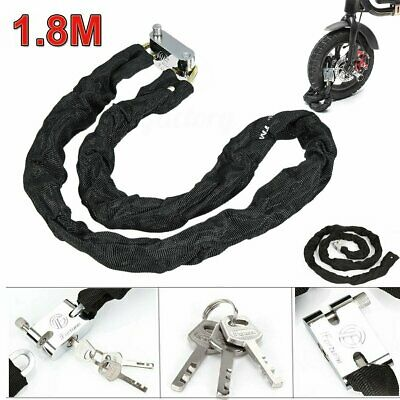 1.8M Motorcycle Motorbike Heavty Duty Security Chain Pad Lock Bicycle Scooter • 8.79£