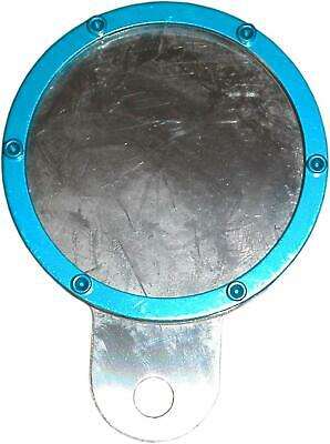 Tax Disc Holder Round Blue Rim 6 Studs Silver Backing • 9.73£