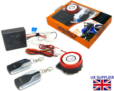 Security Alarm Easy Install 12V Compact For Motorbike Scooter Moped Quad • 23.97£