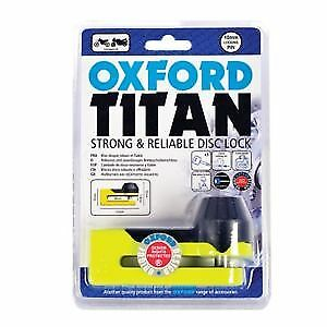 Oxford Titan Motorcycle Strong 10mm Pin Disc Lock OF51 Yellow OF51 • 15.95£